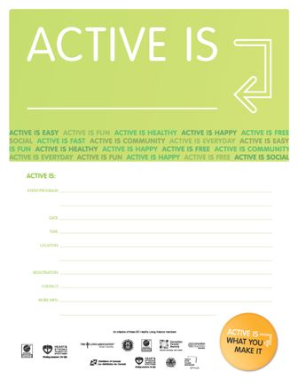 Active Is Event Poster