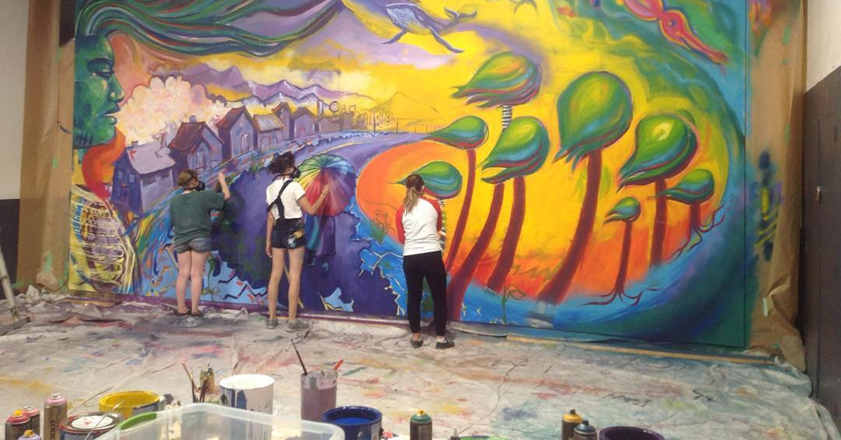 Nelson Youth Programs Mural Painting