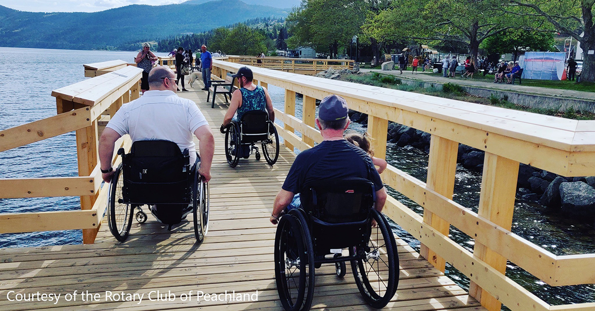 Peachland Ray Kandola Heritage Pier Accessible 1